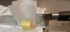 バターの切り方ライフハック、カット済